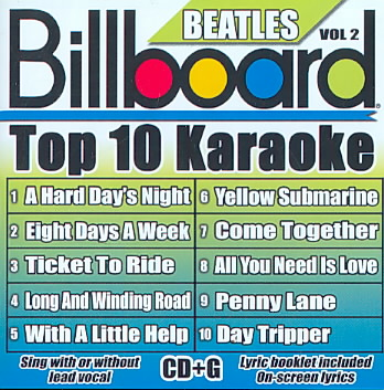 BILLBOARD BEATLES TOP 10 KARAOKE 2 BY BILLBOARD KARAOKE (CD)